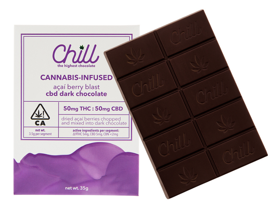 Chill Acai Berry THC/CBD Dark Chocolate
