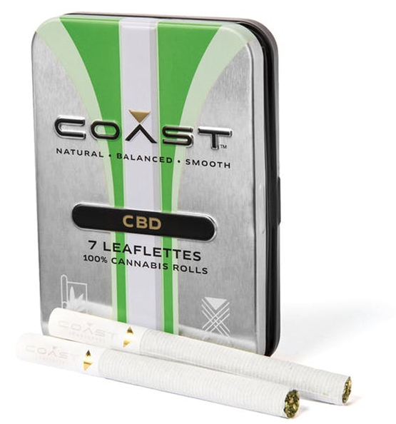 COAST CBD Preroll Pack